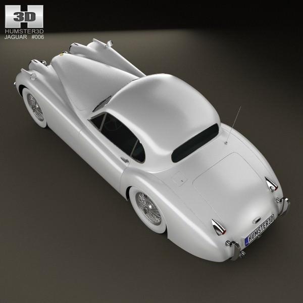 Jaguar Xk120 Coupe: Jaguar XK120 Coupe 1953 3D Model MAX OBJ 3DS FBX C4D LWO