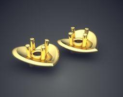 earrings cad-541 3d print model