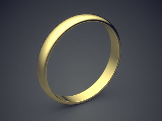 Simple Old Fashioned Wedding Ring 3d Print Model