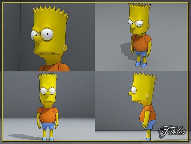 Bart Simpson 3d Model Max Cgtrader Com