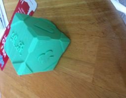 fancy cube- with card suits 3d print model