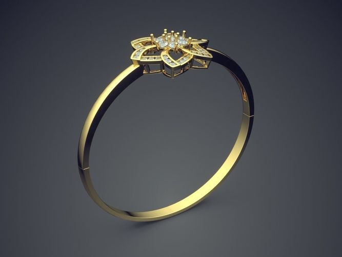Star Shaped Thin Ring With Small Diamonds 2009 3d Model 3d Printable