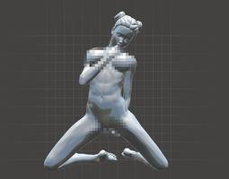 3D print model Sexy girl kneeling 003