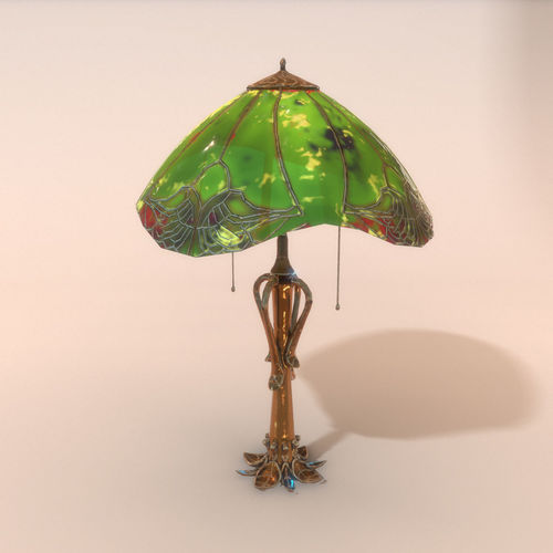 lamp old 3d model low-poly max obj mtl fbx 1
