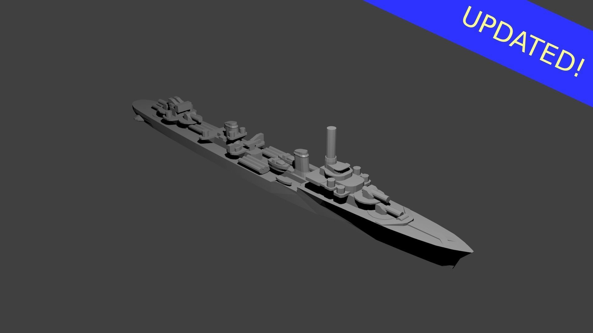 French Le Fantasque Class Destroyer Warship