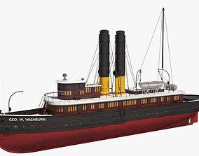 George Washburn Tugboat 3D