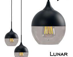 Lunar Light Round Pendant 3D model