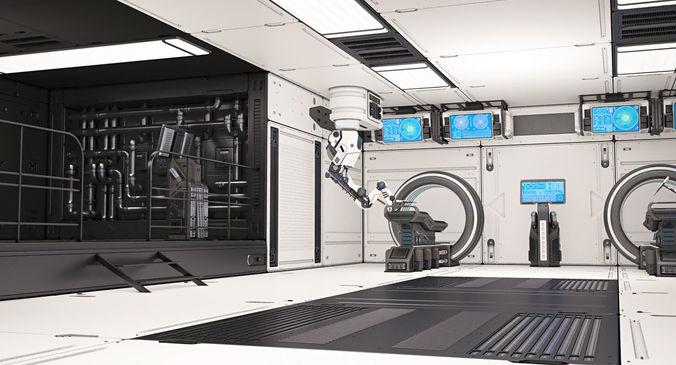 sci fi laboratory 02 3d model rigged max obj mtl fbx 1