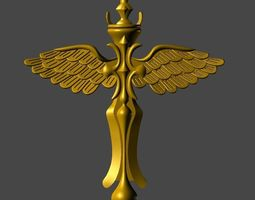 3D print model eagle wing pendent