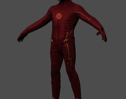 character The Flash 3D model