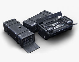 Sci Fi Crate rifle 3D model