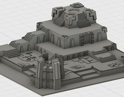 3D print model Space Zombie Battle board terrain