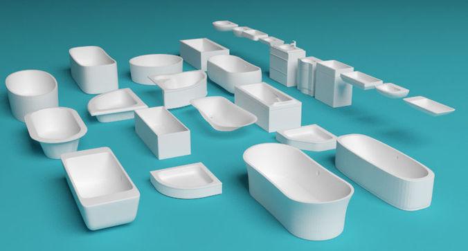 bathtubs and sinks 3d model max obj mtl 3ds fbx c4d 1