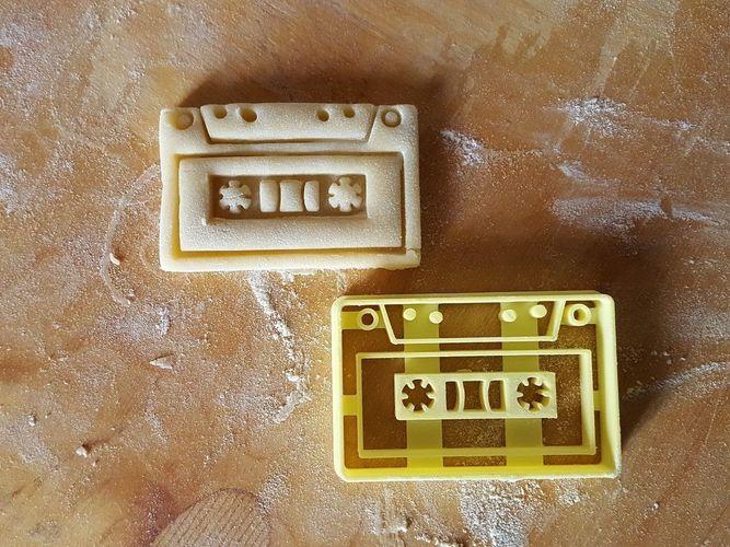 tape cassette cookie cutter 3d model obj mtl 3ds stl 3dm skp ige igs iges 1