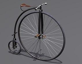 3D model vintage Penny Farthing Bicycle