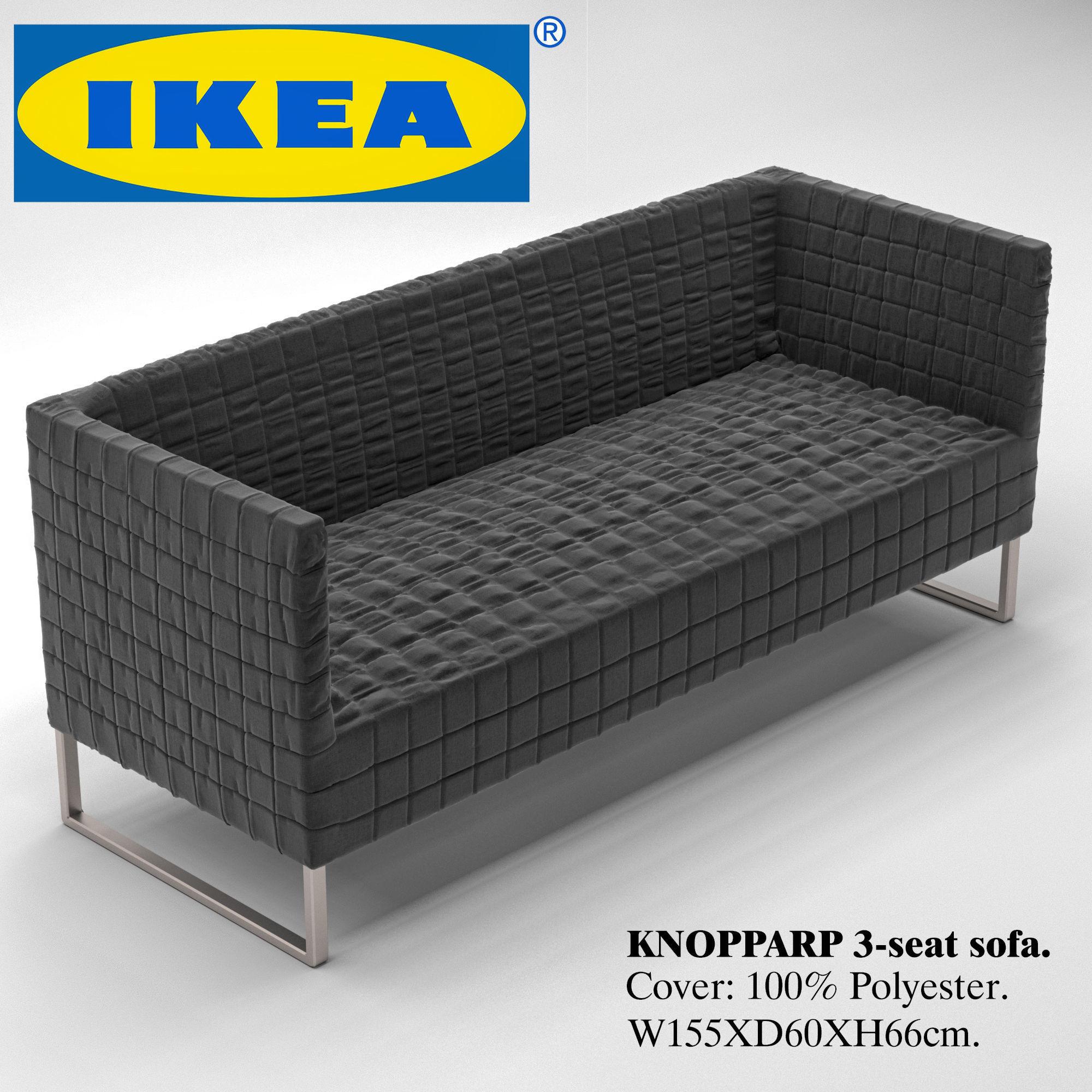 Knopparp Sofa Model Max Obj Mtl 2