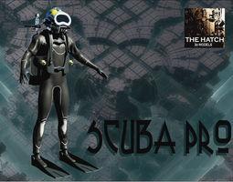Scuba Diver Pro 3D model