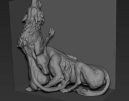 package dog 3d sculpture model
