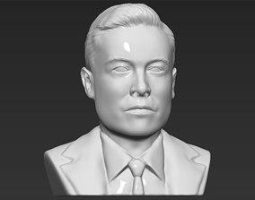 Elon Musk bust 3D printing ready obj stl