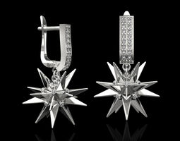 3D print model Christmas Star Earrings fashion