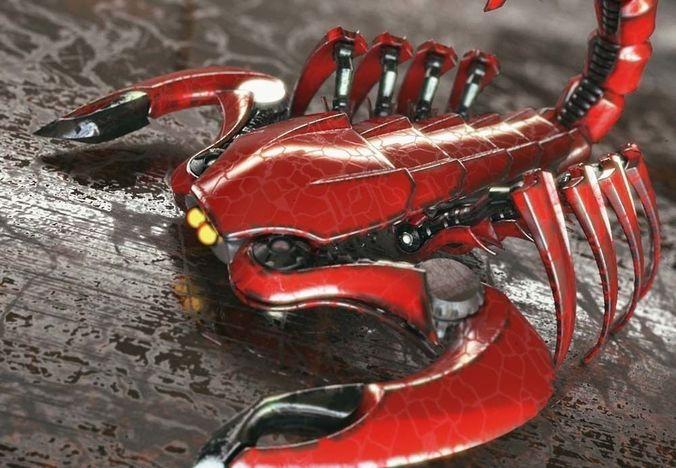 mech scorpion - robots 3d model obj mtl 3ds fbx stl dae ige igs iges 1