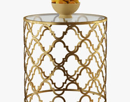 3D Round Moroccan Side Table