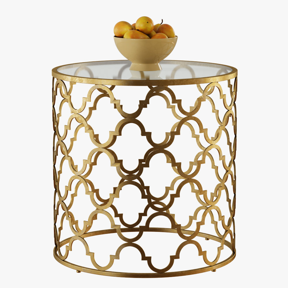 Exceptionnel Round Moroccan Side Table 3D Model
