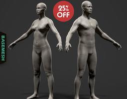 Average Body Basemesh Set 3D