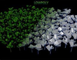 Lowpoly plant 3D model