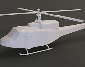3D model Simple mid-poly helicopter
