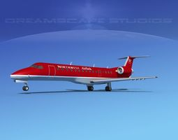 Embraer ERJ-140 Northwest Airlink 3D model
