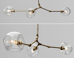 Branching bubble 3 lamps 2 by Lindsey Adelman CLEAR 3D