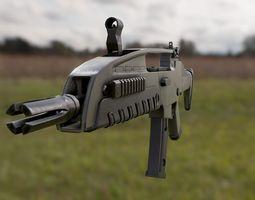 3d model fps xm8 assault rifle PBR game-ready