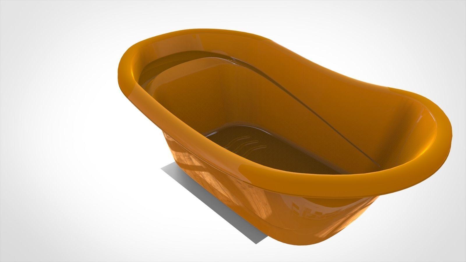 Baby bathtub 3D   CGTrader