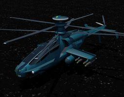 3D model Modern Heavy Attack Gunship
