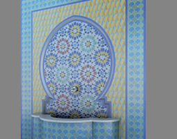 Traditional Moroccan Fountain 3D model