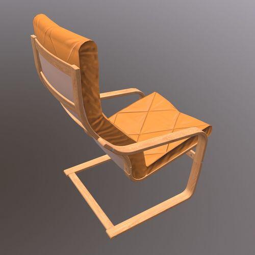 soft wooden chair 3d model max obj mtl fbx dae 1