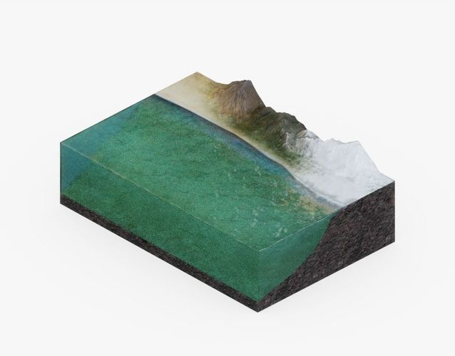 ocean floor visualization 3d model obj mtl 3ds fbx stl 1