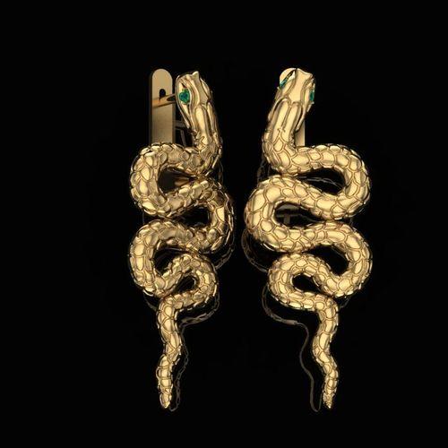 earrings snake 3d model obj mtl stl 3dm 1