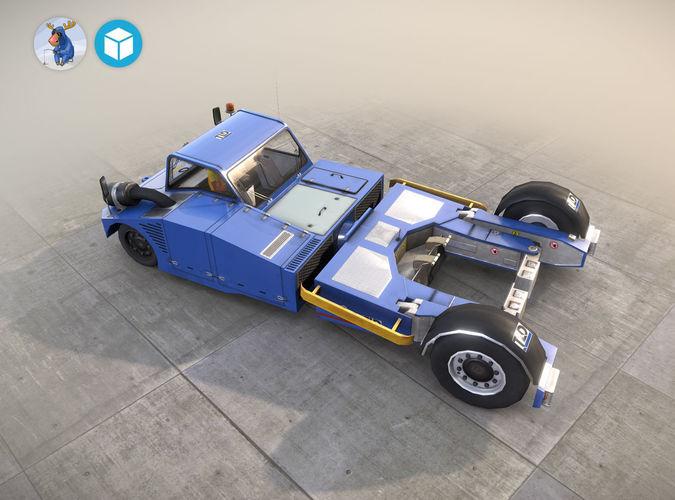 towbarless aircraft tractors ltd tpx 200 s blue 3d model