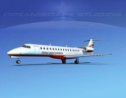 Embraer ERJ-140 Trans West Express 3D