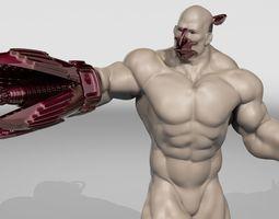 3D model animated CYBORG
