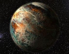 Alien fantasy planet 3D asset
