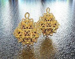 3d printable model bro woven octahedron earring