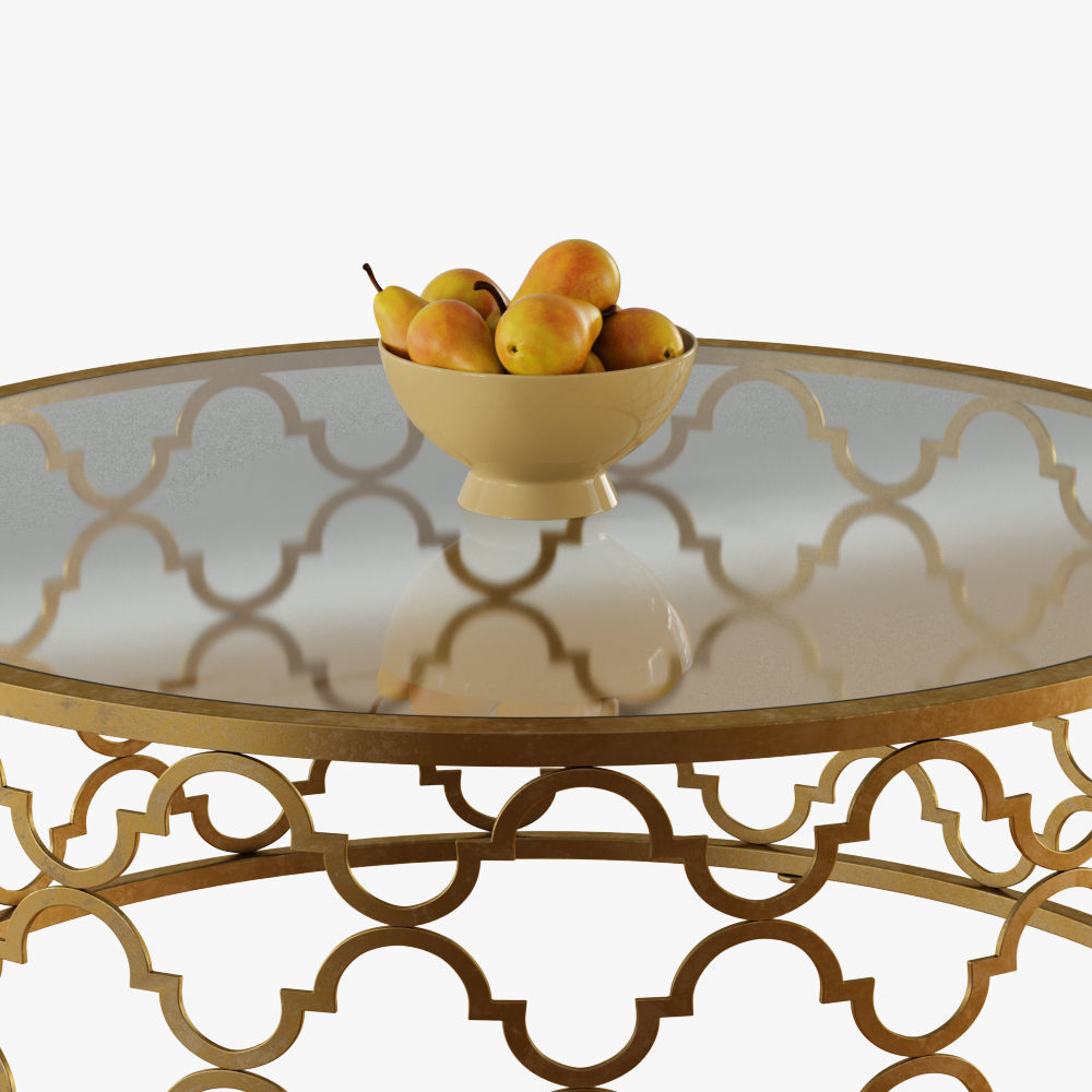 Round Moroccan Tail Table Gold Model Max Obj Mtl Fbx 4