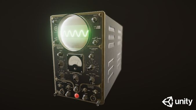 oscilloscope 25i 3d model low-poly animated fbx blend unitypackage prefab 1