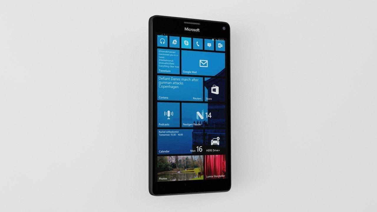 Low Poly Microsoft Lumia 950 Xl Element 3d Cgtrader Nokia Model Max Obj Mtl 3ds Fbx C4d 10