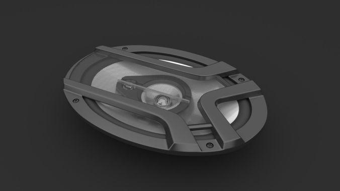 speakers  star 3d model blend 1