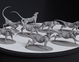 Alien Quadrupedal Concept 8 posed printable