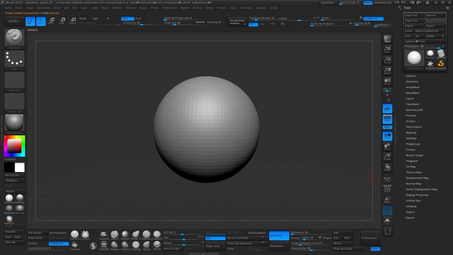 ZBRUSH 2018 Customize UI   3D model